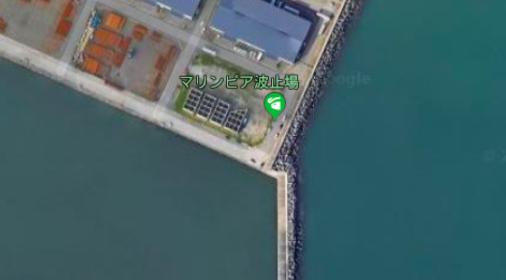 マリンピア沖洲の釣り場