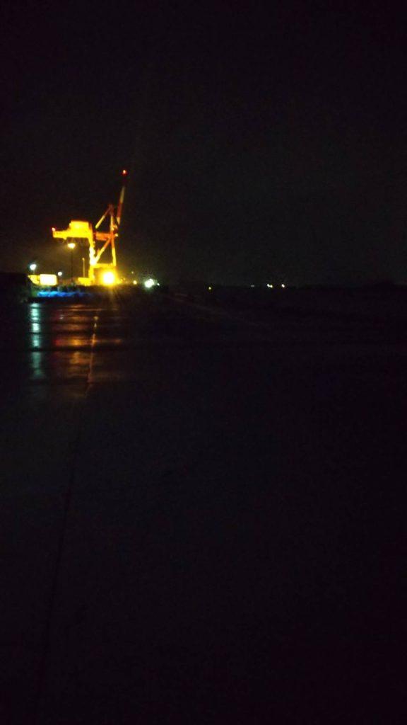 和田島の夜の釣り場