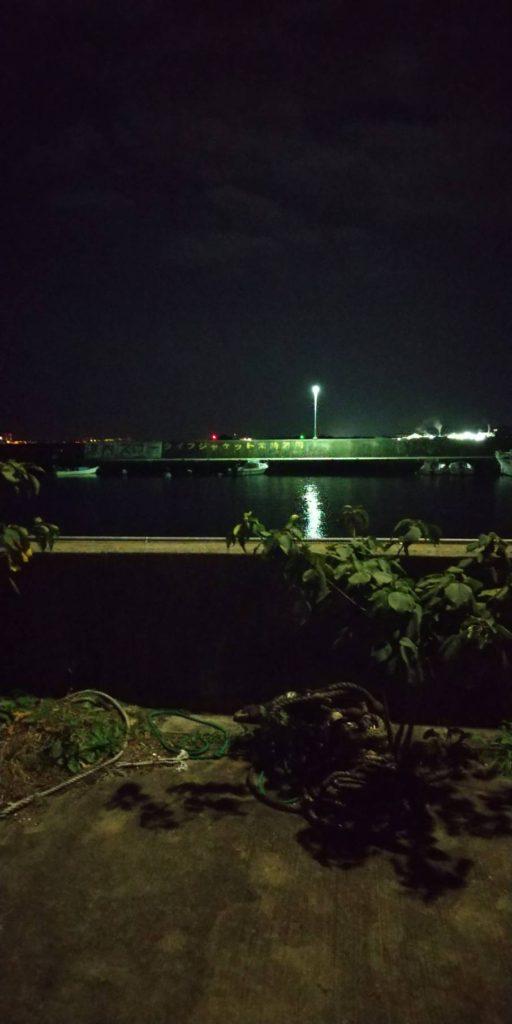 元根井漁港の夜景